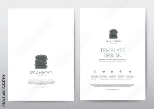 spa wellness medical topic template elements presentation brochure