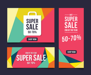 Template Sale Banner Background Abstract, Vector illustration