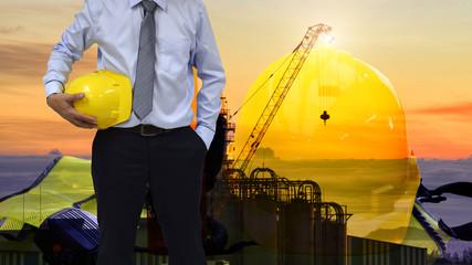 Construction  concept ,Safety standard set