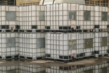 Storage tanks, chemical storage areas .
