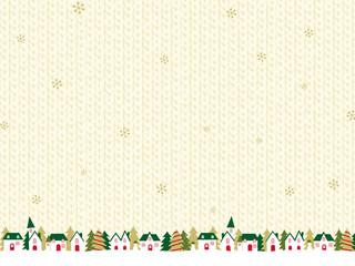クリスマスの街並み ニット背景