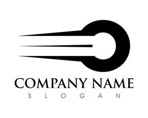 O Letter Fast Logo