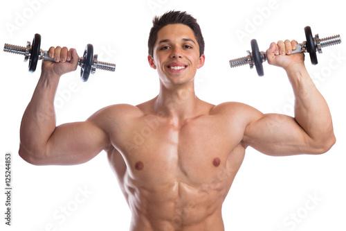 Bodybuilder Bodybuilding Muskeln Body Building Training Schulter ...