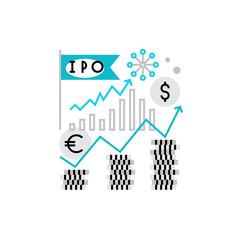 Stock Market Monoflat Icon.