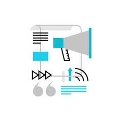 Media Promotion Monoflat Icon.