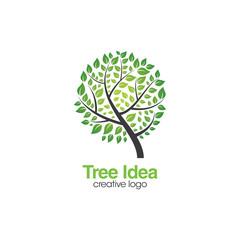 Creative Tree Logo. Tree Concept Logo Design Template