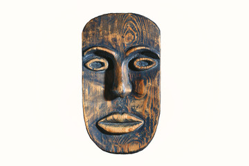 ethnic mask of wood