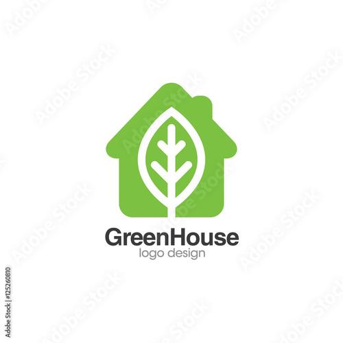 Green House Creative Concept Logo Design Templateu0026quot; Stock image and ...