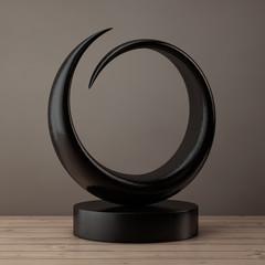 Abstract Wooden Sculpture. 3d Rendering