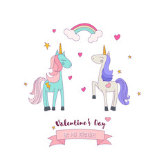 Two Unicorn Ponies in Love