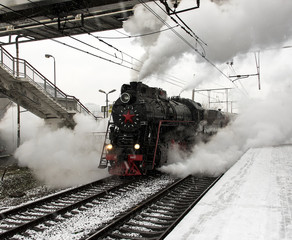 Steam locomotive is going to move