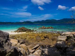 Scenic landscape wild nature tropical island