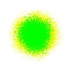 Bright neon green and yellow spot stain ball orb decoration or background