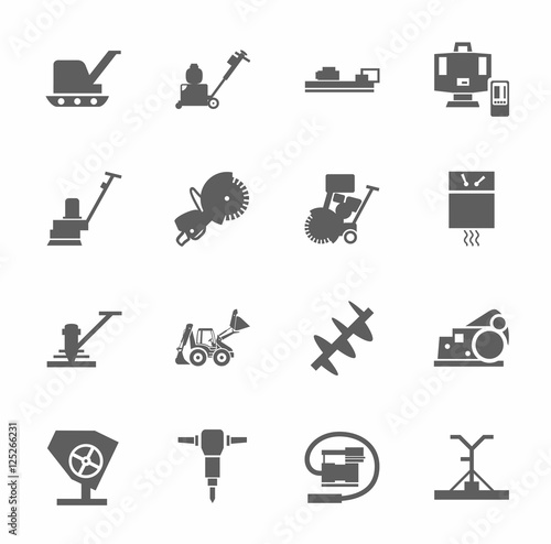 Equipment For Working With Concrete Construction Machinery Single