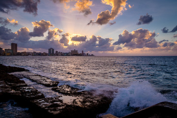 Sunset at El Malecon - Havana, Cuba
