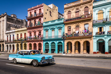 Photo sur Plexiglas La Havane Old Havana downtown Street - Havana, Cuba