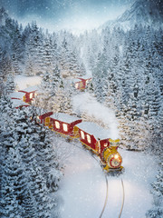 Amazing cute christmas train