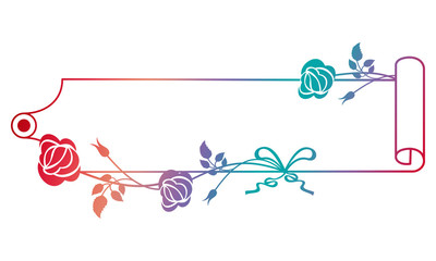 Beautiful horizontal banner with roses.
