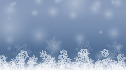 Vector image background with snowflakes.