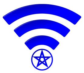 Pentagram WiFi Symbol