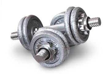 metal crossfit dumbbells