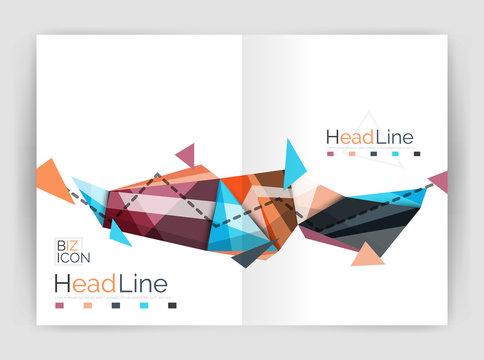 Geometric annual report business template