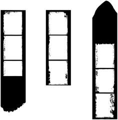 Wall Mural - stripes of medium format film, grungy photo frames,vector