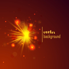 Abstract vector background. Holiday light rays