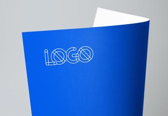 Logo on Bright Paper Mockup 3