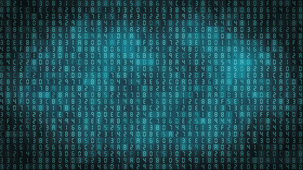 Hexadecimal computer code background