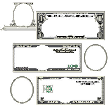 Stylized money with plenty of blank space for your text