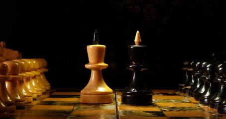 Противостояние королей на шахматной доске 1