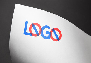 Logo on Bright Paper Mockup 5