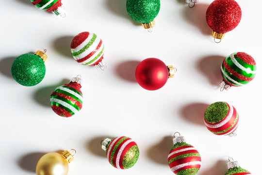Collection of Christmas baubles
