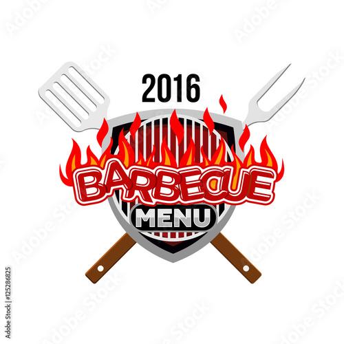 barbecue menu logo menu template stock image and royalty free