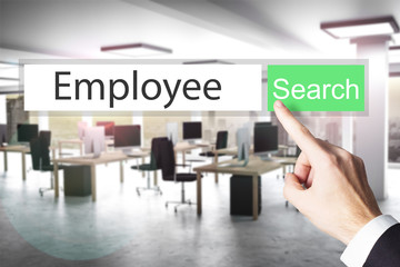 websearch new green search button employee 3D Illustration