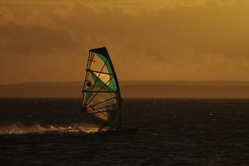 Windsurfing at Baltic Sea