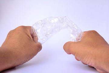 Hand squeeze  water bottle