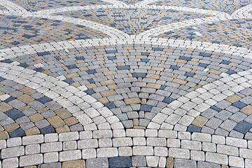 pavement of concrete pavement tiles patterned