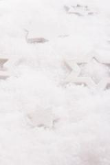 Weiße Sterne im Schnee