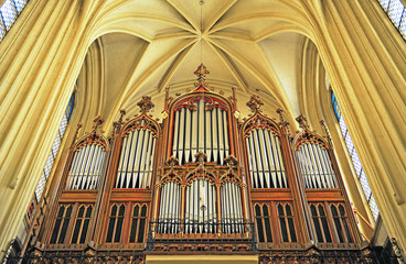 Antique organ in austrian catholic church