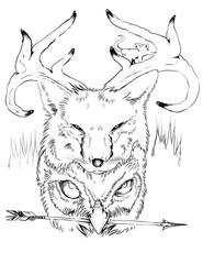 Fox Deer Owl nature totem
