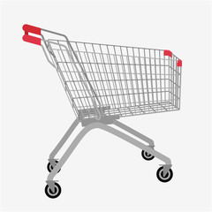 Shopping cart Vector illustration.