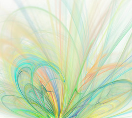 Abstract white background with light rainbow - green, turquoise,