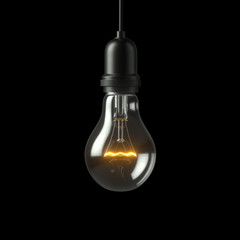 Lamp light bulb. 3D illustration