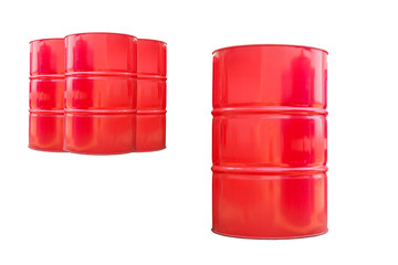 red 200 liter fuel tank