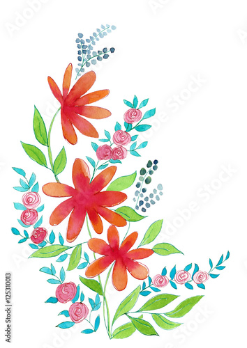 Blumen Aquarell Stock Photo And Royalty Free Images On Fotolia
