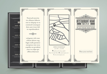 Art Deco Trifold Restaurant Menu