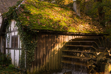 Half Timber House Cottage Village River Waterwheel Architecture