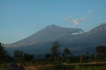 landscape of Rinjani volcano . Indonesia